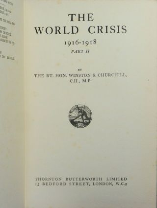 The World Crisis: 1916-1918, Part II