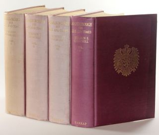 Marlborough: His Life and Times, a full set of British first editions, inscribed and dated in Volume I to Churchill's godson the day after publication
