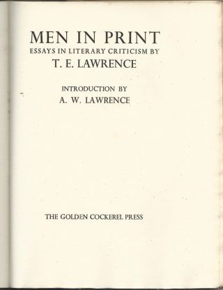 Men In Print, the first, limited edition, #283 of 500