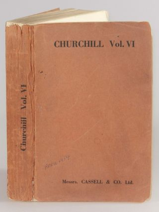 Publisher's proof copy of the sixth and final volume of The Second World War. Winston S. Churchill