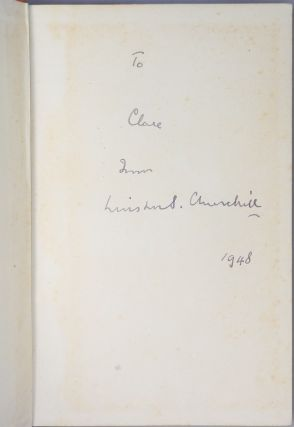Thoughts and Adventures, inscribed by Churchill to Clare Boothe Luce in 1948