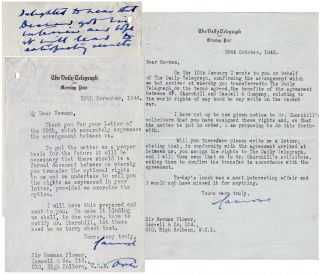 Two typed, signed letters dated 29 November 1944 and 25 October 1945 from Lord Camrose to Sir...