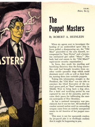 The Puppet Masters, the publisher's review copy of one of science fiction's most important editorial influences