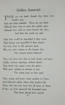 Soldiers Immortal and Other Poems
