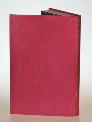 T. E. Lawrence's Correspondence with Edward and David Garnett, the finely bound full goatskin limited edition, copy #21 of 40