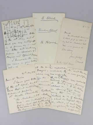 """The Road Followed by Alexander…"" - Three autograph, signed letters regarding the 1897-98..."