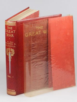 The Great War (Home Library binding, 4 volumes complete) in the publisher's original shipping box and previously unconfirmed publisher's dust jackets