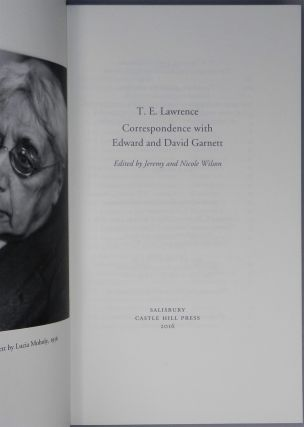T. E. Lawrence's Correspondence with Edward and David Garnett, the finely bound full goatskin limited edition, copy # 23 of 40