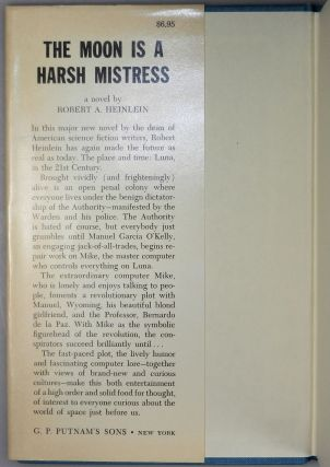 The Moon is a Harsh Mistress, signed by both the author and his wife