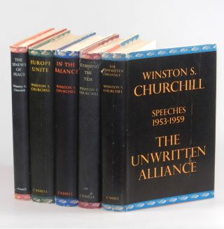 The Postwar Speeches, a full set of jacketed first editions: The Sinews of Peace, Europe Unite,...