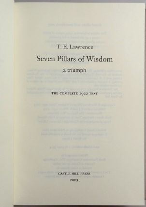 Seven Pillars of Wisdom: a triumph, the complete 1922 'Oxford' text, first and limited one-volume edition, one of 180 copies issued thus in quarter Nigerian goatskin