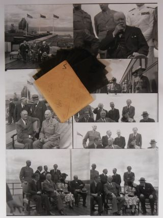Original, unpublished photographic negatives of U.S. President Franklin D. Roosevelt, British...