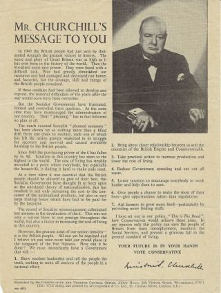 Mr. Churchill's Message to You. Winston S. Churchill
