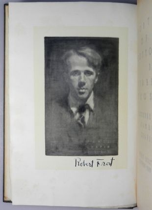 North of Boston, an author's presentation copy with a lovely, signed gift inscription from Frost and further signed by him on his frontispiece portrait