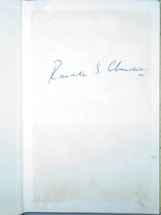 What I Said About the Press, signed by Randolph S. Churchill