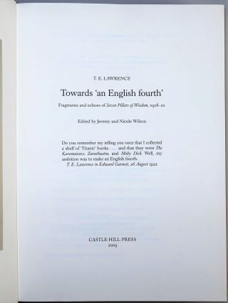 Towards 'an English Fourth'
