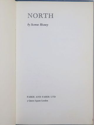 North, inscribed by the author