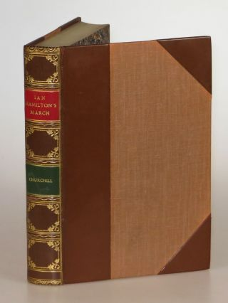 Ian Hamilton's March, finely bound by Bayntun-Riviere. Winston S. Churchill