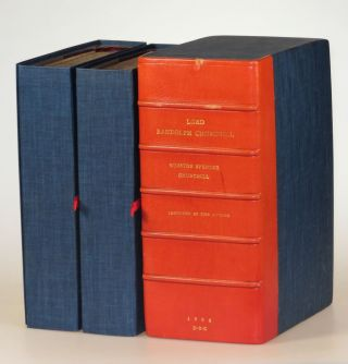 Lord Randolph Churchill, a presentation set gratefully inscribed in the year of publication to the man who successfully guided Churchill's first campaign as a Liberal