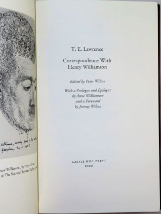 T. E. Lawrence: Correspondence with Henry Williamson