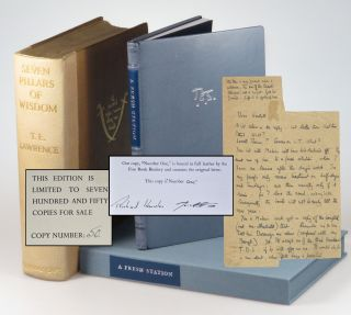 A previously unknown and unpublished 1925 autograph letter from T. E. Lawrence referencing his...