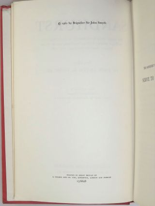 Sandhurst, a presentation copy signed and dated by the author in the House of Commons in the year of publication