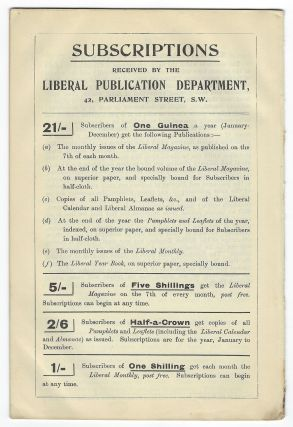 The Liberal Government and Naval Policy, A Speech Delivered by The Rt. Hon. W. Churchill, M.P. (first Lord of the Admiralty), introducing the Navy Estimates in the House of Commons on March 18th, 1912