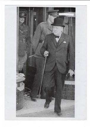 A wartime press photograph from The Associated Press German Picture Service of Prime Minister...