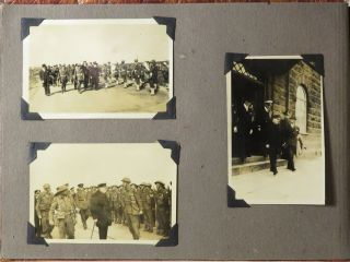 A sailor's Second World War photo album including eight original, unpublished photographs of Prime Minister Winston S. Churchill in Iceland during his return from meeting with President Roosevelt in Placentia Bay and just days after their announcement of the Atlantic Charter