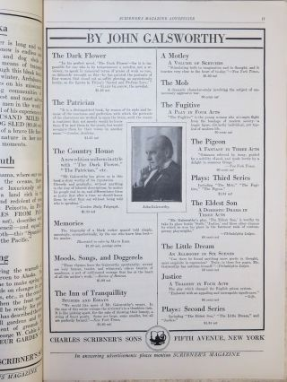 Scribner's Magazine March 1915, containing a serialization of John Galsworthy's The Freelands and images of the building of the Panama Canal