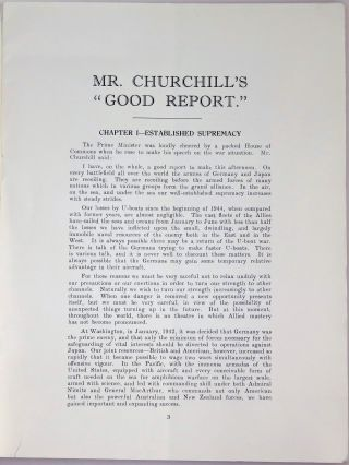 The Enemy Recoiling on Every Battlefield: Verbatim Report of Mr. Churchill's Speech Delivered on Wednesday, August 2, 1944, to the British Commons