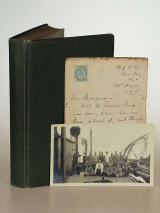 The photograph album of an Australian service member featuring 44 vernacular images documenting...