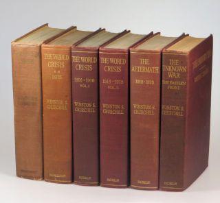 The World Crisis, a full set of six Canadian first editions. Winston S. Churchill.