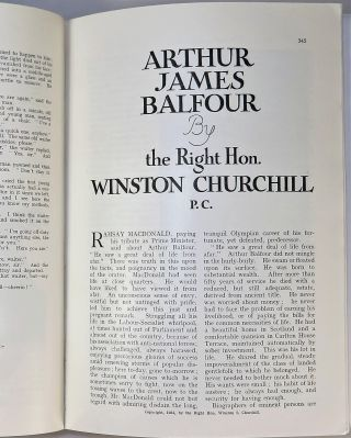 Arthur James Balfour in The Strand Magazine, April 1931