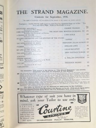 Some Election Memories in The Strand Magazine, September 1931