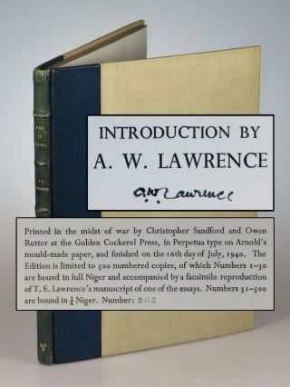 Men In Print, the first, limited edition, #262 of 500, signed by T. E. Lawrence's brother and...