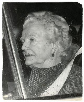 An original press photo of Lady Clementine Churchill, taken the day after her husband's fatal...