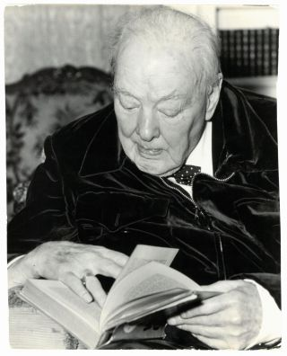 An original press photo of Sir Winston S. Churchill taken on 14 November 1963 at his Hyde Park...