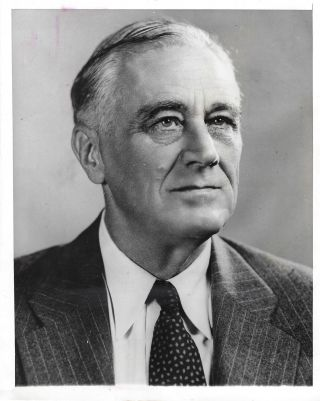 An original press copy of the official campaign portrait of Franklin Delano Roosevelt for his...