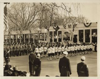An original press photo of the 20 January 1941 Inaugural Parade for Franklin Delano Roosevelt's...