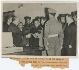 "An original wartime ""British Official Photograph"" capturing British Prime Minister Winston S...."