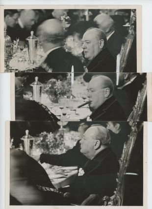 A unique photographic triptych of Prime Minister Winston Churchill from The Daily Telegraph...