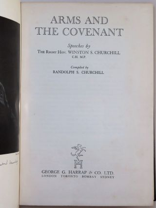 Arms and the Covenant, finely bound