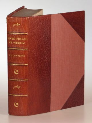 Seven Pillars of Wisdom, finely bound by Bayntun Riviere in three-quarter tan morocco. T. E....
