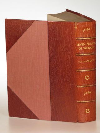 Seven Pillars of Wisdom, finely bound by Bayntun Riviere in three-quarter tan morocco