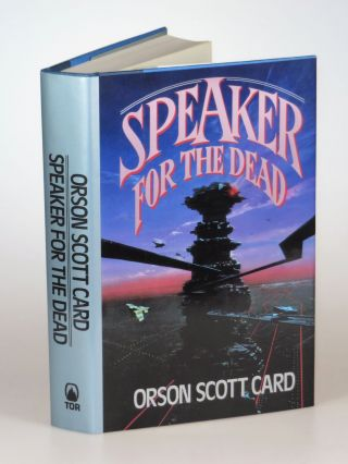 Speaker for the Dead, a superlative first printing with the author's full, dated signature and an additional, personalized inscription to a science fiction bookstore proprietor
