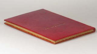 Painting as a Pastime, the first edition, finely bound in full red polished calf by Zaehnsdorf for Asprey of London