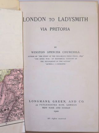 London to Ladysmith via Pretoria, finely bound in full red morocco by Bayntun-Riviere