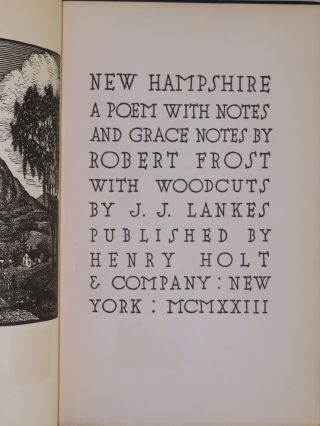 New Hampshire: A Poem with Notes and Grace Notes