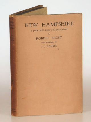 New Hampshire: A Poem with Notes and Grace Notes. Robert Frost, four woodcut, J. J. Lankes
